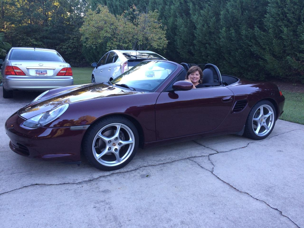 Name:  Sherry in Boxster 2.jpeg
