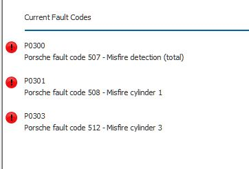 Got P300, P301 P303 codes - 986 Forum - for Porsche Boxster