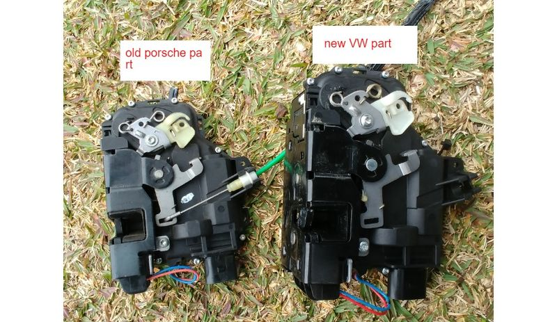 Replacing a 97 Boxster lock actuator with VW parts (with