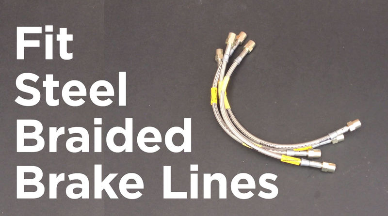 Diy Braided Brake Lines : How to fit braided steel brake lines hoses with video