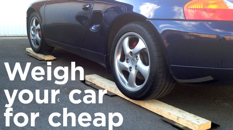 how to weigh you car for cheap with bathroom scales 986 forum for porsche boxster cayman. Black Bedroom Furniture Sets. Home Design Ideas
